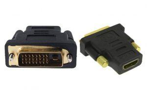 POWERTECH αντάπτορας HDMI 19pin θηλυκό σε DVI 24+1 αρσενικό