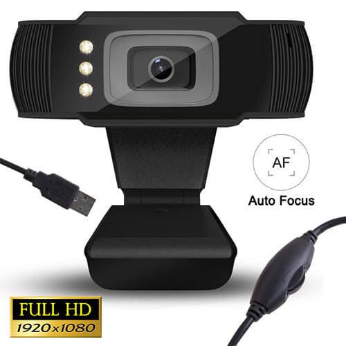 LAMTECH Web Camera Full HD 1080p με LED