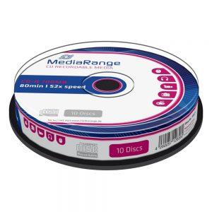 MediaRange CD-R 80' 700MB 52x Cake Box x 10